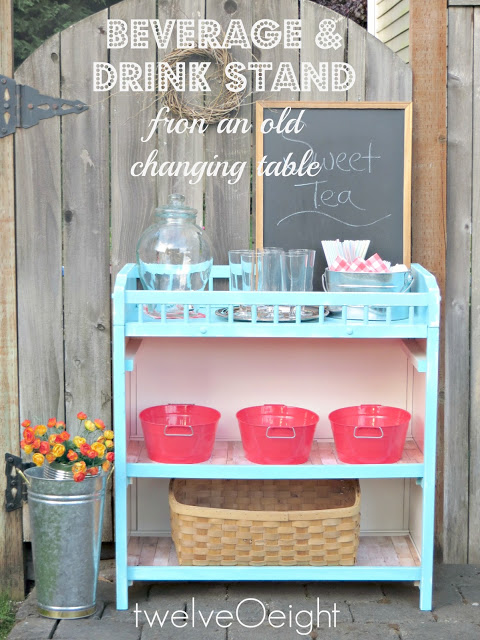 beverage and drink stand from changing table at Twelve o Eight