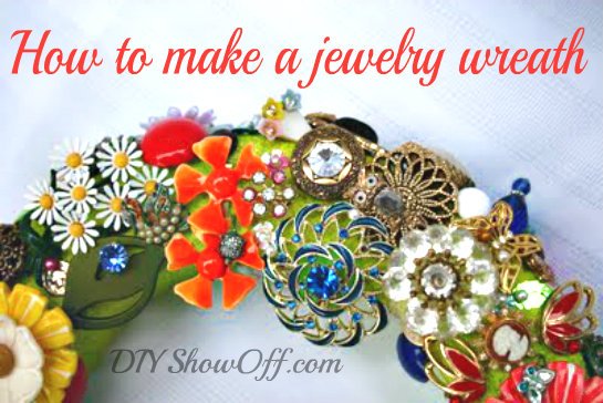 jewelry wreath tutorial