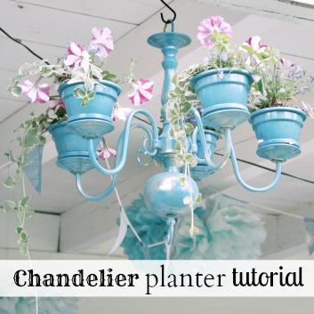 DIY Chandelier Planter