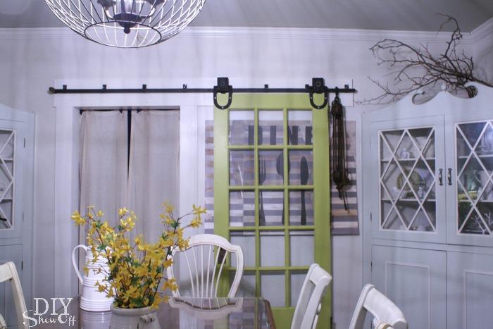 dining room sliding door wall art