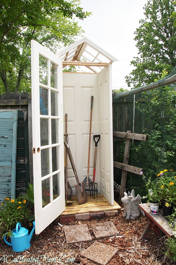 diy garden shed at A Cultivated Nestdiy garden shed at A Cultivated Nest