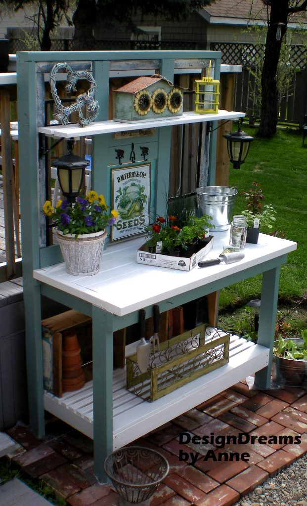 diy potting bench at Design Dreams by Anne