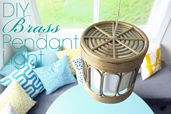 diybrasspendantlight at Teal and Lime