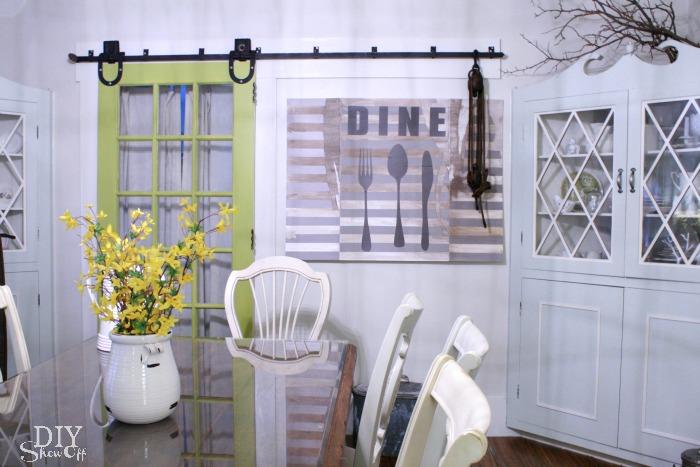 easy diy dining room art