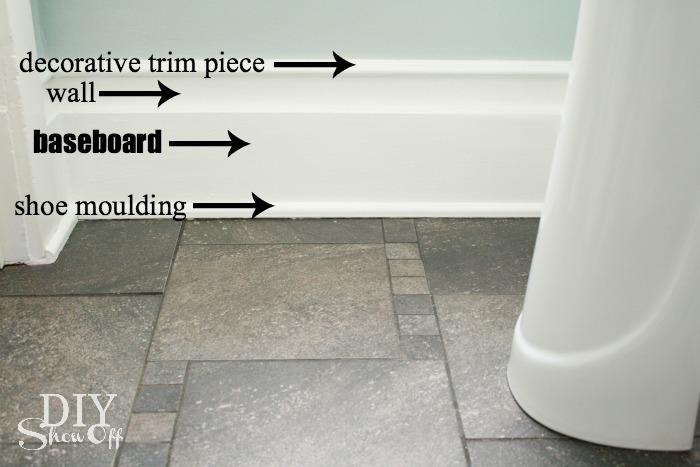 easy decorative baseboard tutorial