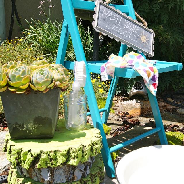 foot washing station at Bles-Id