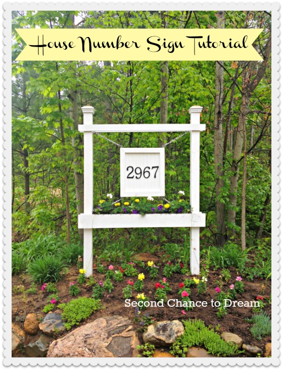 house number sign tutorial at Second Chance to Dream