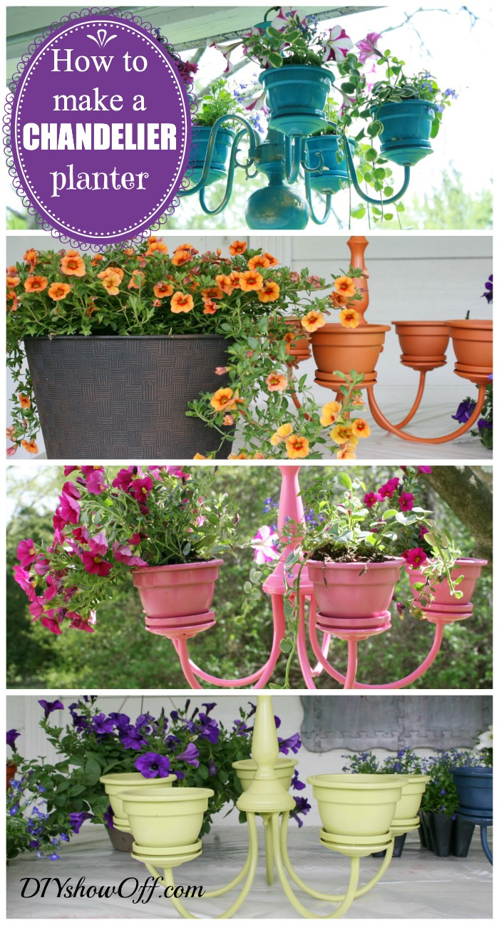how to make a chandelier planter