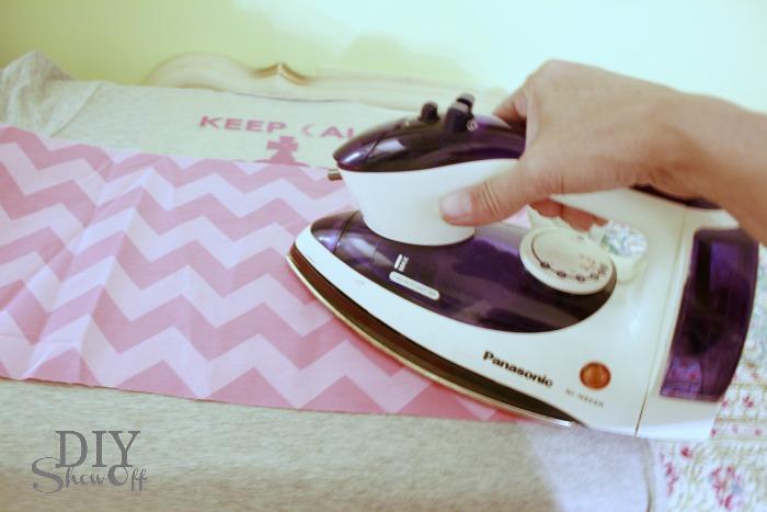 ironing silhouette heat transfer