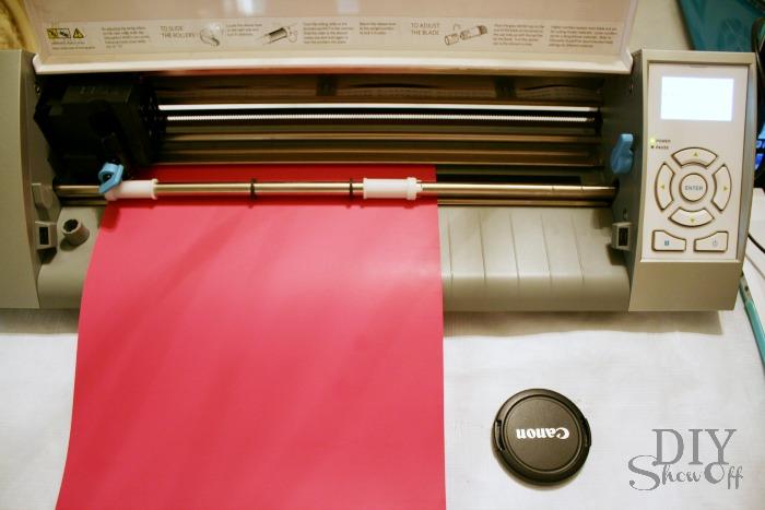 loading heat transfer paper