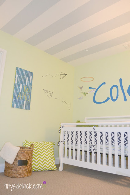 modern boy nursery at Tiny SideKick