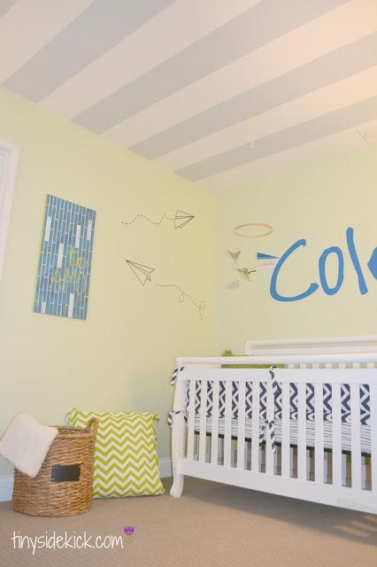 modern boy nursery at Tiny SideKick