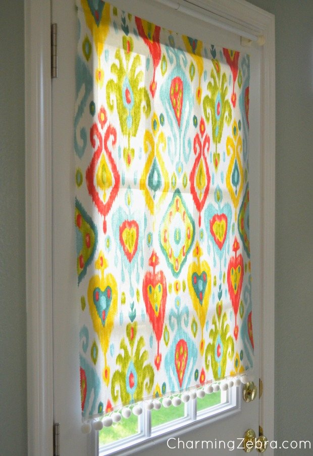 no sew magnetic blind - Charming Zebra