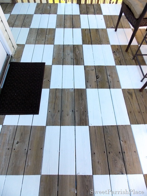 painted deck at Sweet Parrish Place