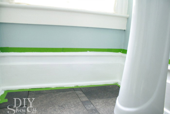 painted decorative baseboard