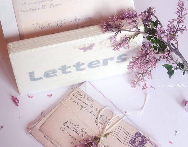 DIY vintage letter holder at Passion Shake