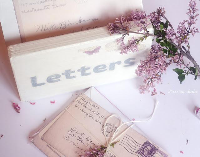 DIY vintage letter holder at Passion Shake