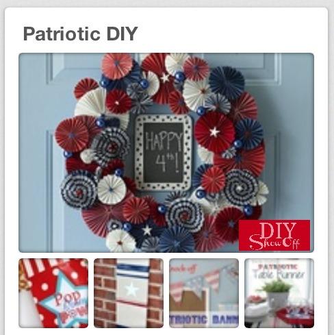 patriotic diy pinboard