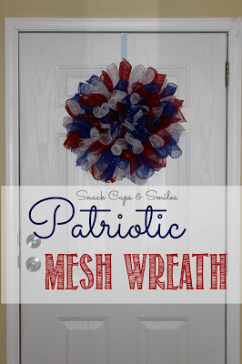 patriotic mesh wreath at snack cups and smiles
