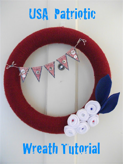 patriotic usa wreath by his frugal servant