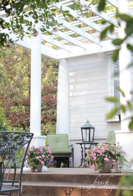 pergola at French Country Cottage