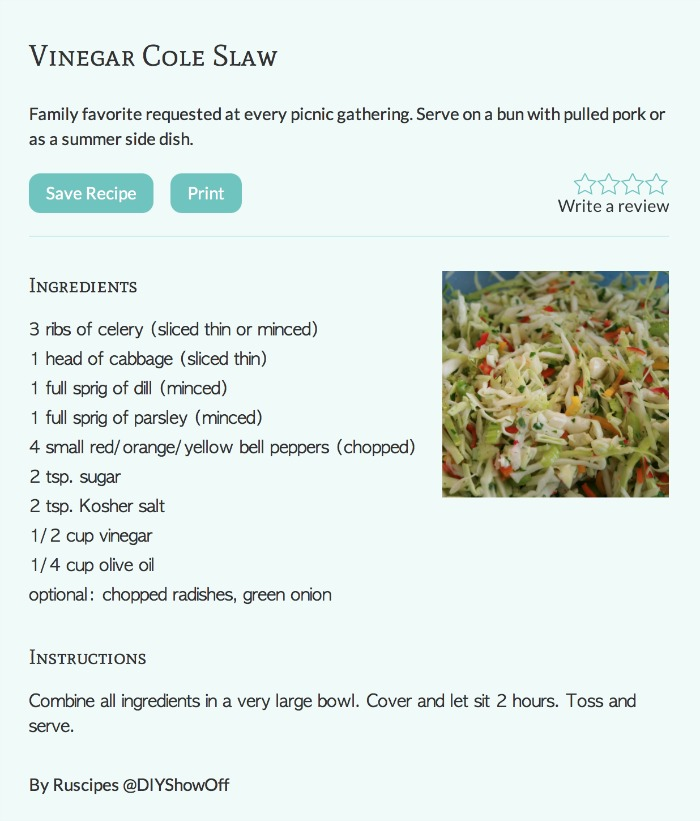vinegar coleslaw recipe