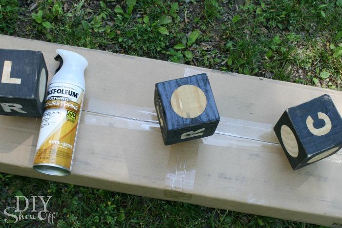 sealing DIY dice