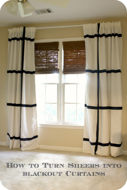sheers to blackout curtains Before Meets After