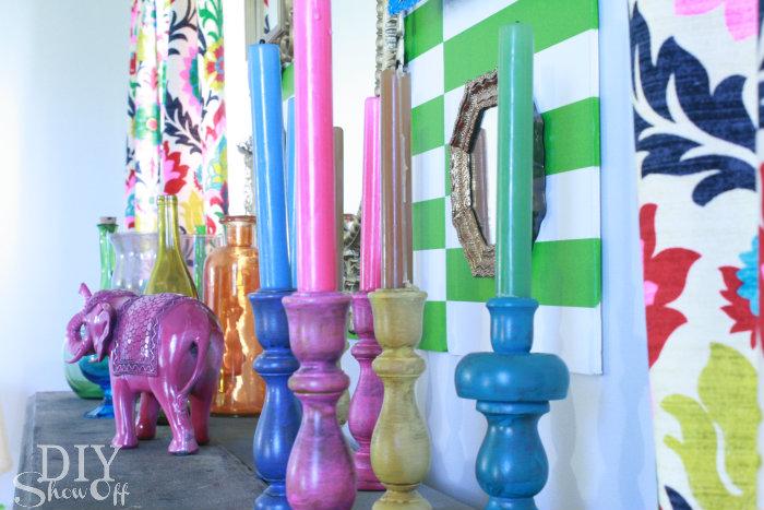 summer carnival mantel decor