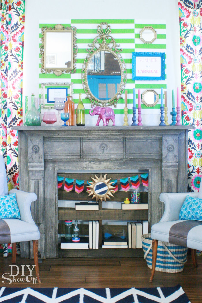 summer carnival mantel