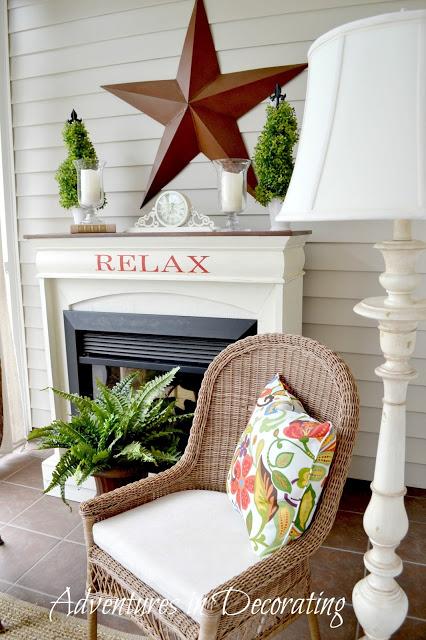 summer porch - Adventures in Decorating