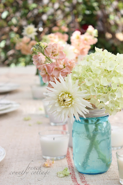 summer table setting French Country Cottage
