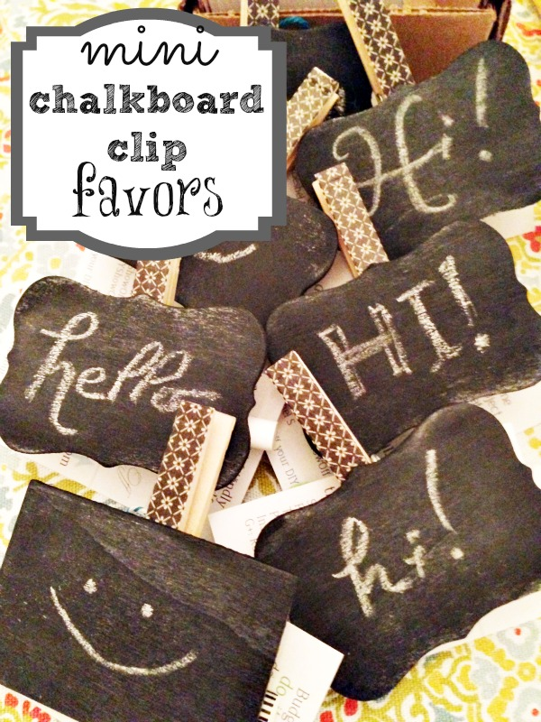 DIY chalkboard party favor clips