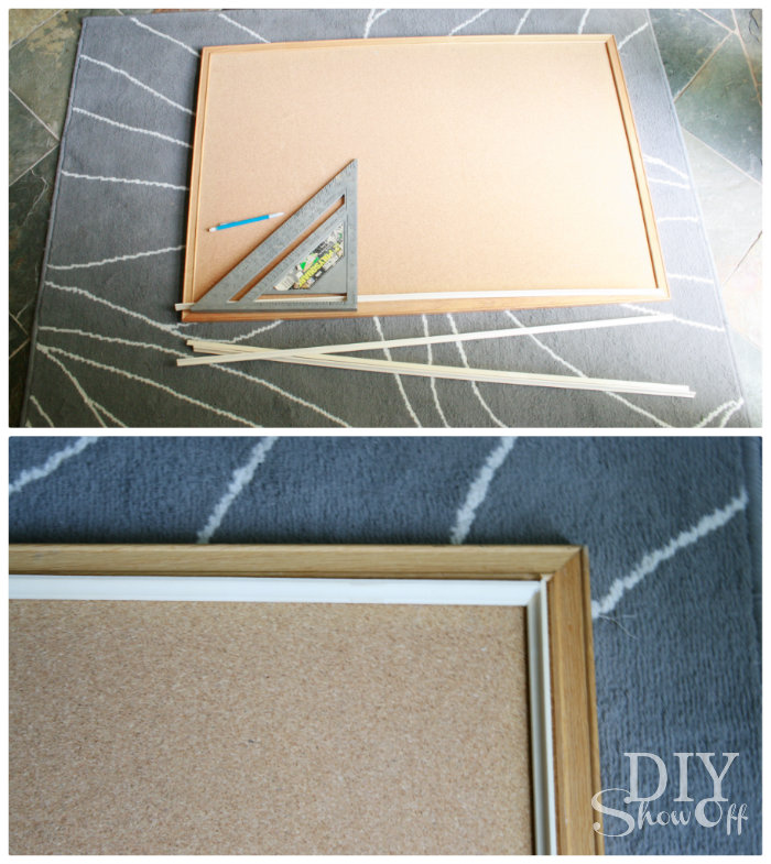 DIY burlap covered cork board