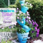 How to Make Stacked Stenciled Ombre Flower Pots