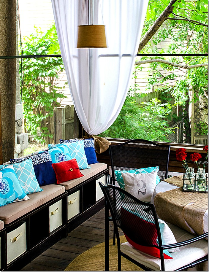 It All Started with Paint screened porch makeover