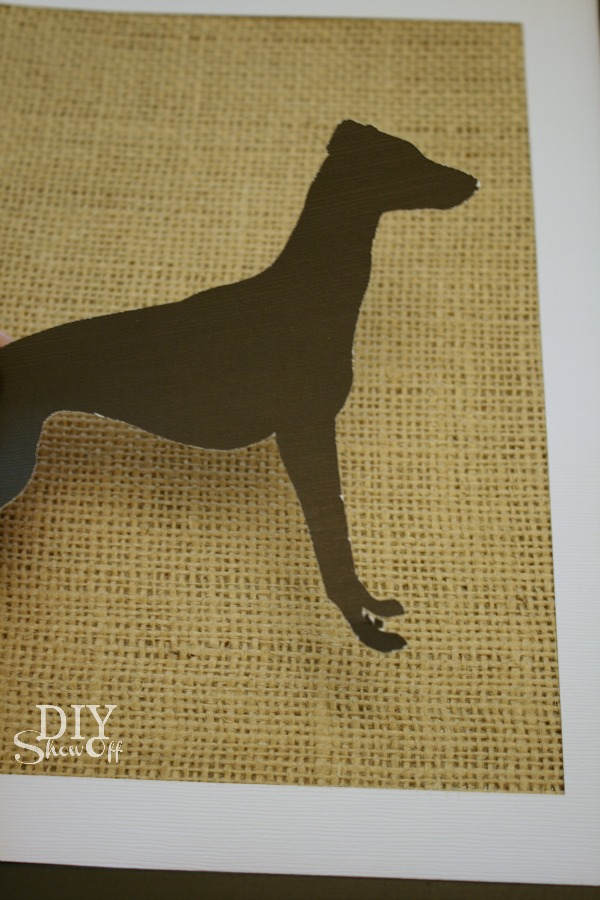 Italian greyhound silhouette