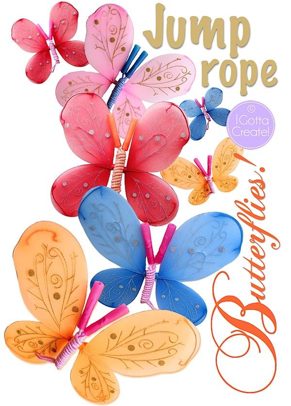 Jump rope butterflies - I Gotta Create