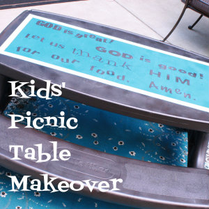 Kids Picnic Table Makeover Tutorial