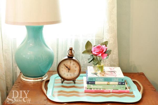 bedside tray vignette