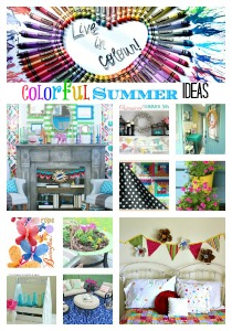 colorful summer DIY features