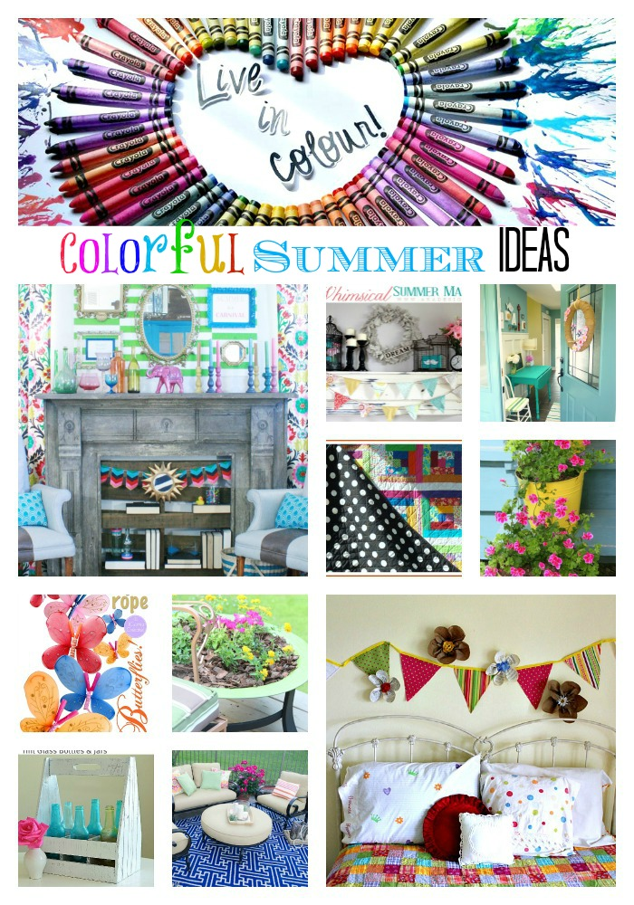 colorful summer DIY ideas
