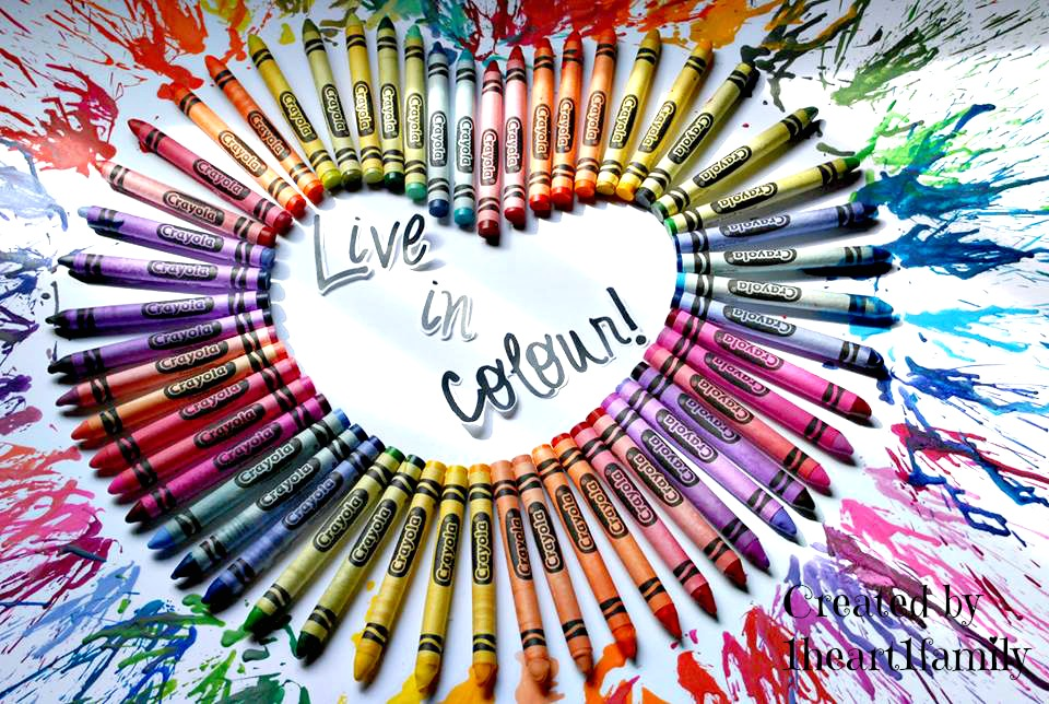 crayon art at One Heart One Family