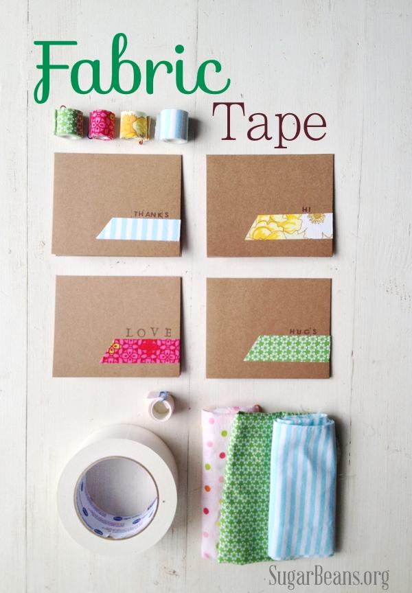 diy fabric tape at sugar beans