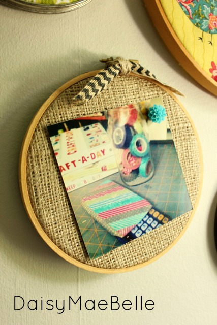 embroidery hoop pin board at DaisyMaeBelle
