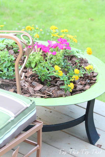 fire pit repurpose at Top This Top That