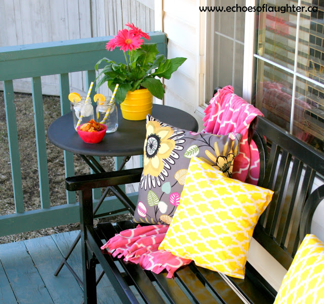 front porch makeover at Echoes of Laughter