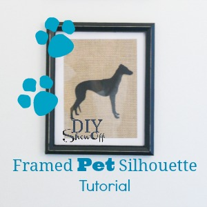 how to make a framed pet silhouette