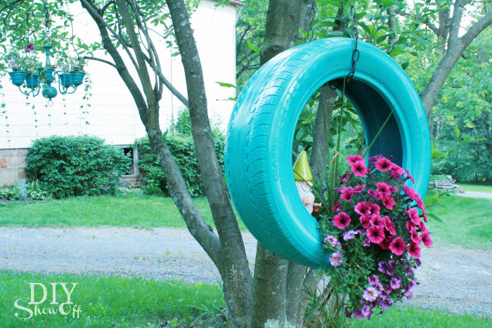 Diy tire planter tutorialdiy show off diy decorating for Bricolaje para jardin
