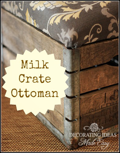 milk crate ottoman at Decorating Ideas Made Easy